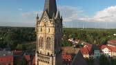 Old church Lucka medieval town Germany Thuringia Stock Footage