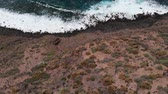 горы : Top view of a beautiful coastline with long waves and turquoise water
