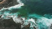 cena de tranquilidade : Aerial view of the north coast of Tenerife Island, Spain.