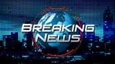 """Breaking News"" Animated News  Broadcast Graphic (blauw) Stockvideo"