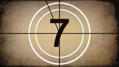 Oude Film Countdown Leader Animatie Graphic (sepia)