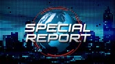 """Special Report"" Animated News  Broadcast Graphic (blauw)"