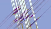 crossover : Abstract network, purple and white parallel crossing lines forming grid on violet background, abstract illustration, animation, seamless loop
