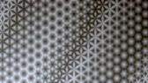 geometrical shapes : Repeating black and white starry pattern design.  Kaleidoscopic motion graphic background. Animation, abstract illustration, seamless loop Stock Footage