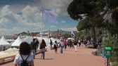 Seafront in Cannes during the Film Festival Stock Footage
