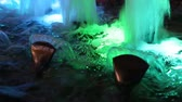 artificial lighting : Beautiful fountain water and multi colored lights illumination