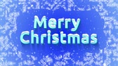 effect : Animated screensaver Merry Christmas!. Volume letters appear on the ice. Snowing. Letters in the snow.