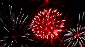 disperso : Magnificent fireworks of various colors in the New Years Eve, Fireworks, Video clip