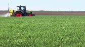 pesticide : Plant protection spraying herbicides, Video Clip Stock Footage
