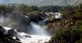 наводнение : Epupa Falls on the Kunene River in Northern Namibia and Southern Angola