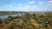 game reserve : Aerial african landscape in Nambwa, Bwabwata is a national park located in north east Namibia on Caprivi Strip