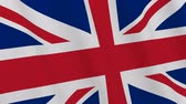 Background - UK flag. United Kingdom flag waving in the wind. Loopable. 3D rendering.