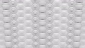 horony : Abstract background white spheres with furrows turn around. Loopable Full frame. 3D rendering.