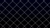 фехтование : Metallic fence net moving on black background. Luma matte. Loopable 3D rendering.