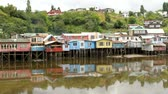 homens : Scene from castro city, Chiloe, chile Stock Footage