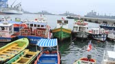 barco : Boats on a harbour Stock Footage