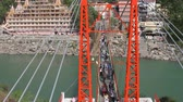 pontes : View of rishikesh, India Stock Footage