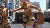 thai : 552017: Summer of love, weird street fair, San francisco CA Stock Footage
