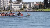 lagos : Dragon boat races, Oakland, Sep 2017 Stock Footage
