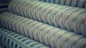 fabric : Rolls of toilet paper manufacture Stock Footage