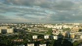 Moscow Sityscape at Sunset from Day into Night Stock Footage