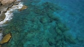 Reef Washed By The Waves Of The Ocean Stock Footage