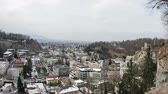 Salzburg Skyline. A timelapse recording of the view across the Salzburg skyline, in Austria on a winter day. Wideo