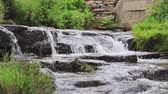 A close up view of South Dean Beck beneath the Bronte Waterfall near Haworth in West Yorkshire, England.