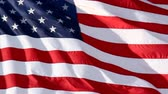 waving : American Flag Slow Waving. Close up of American flag waving. Filmed at 60 fps and slowed down to 30 fps. Stock Footage