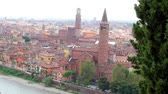 italiano : Panorama of Verona, with St. Anastasia Church and Lamberti Tower
