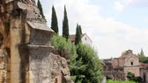 стена : Historical roman amphitheater in Verona with Church, Italy, Europe