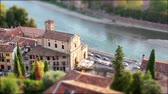 típico : Timelapse and Tilt Shift of a Typical Italian Church, Verona, Italy, Europe