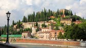 стена : Roman Amphitheater and Castel San Pietro in Verona , Italy  Стоковые видеозаписи