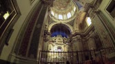 NAPLES, ITALY - CIRCA OCTOBER 2013: Cathedral of San Giuseppe dei Ruffi Stock Footage