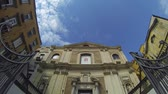 church : NAPLES, ITALY - CIRCA OCTOBER 2013: Cathedral of Donna Regina Nuova Stock Footage