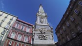 NAPLES, ITALY - CIRCA DECEMBER 2013: Piazza San Domenico Stock Footage