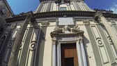 fresk : NAPLES, ITALY - CIRCA DECEMBER 2013: Facade of San Paolo Church Stok Video