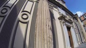 NAPLES, ITALY - CIRCA DECEMBER 2013: Facade of San Paolo Church Stock Footage