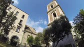 NAPLES, ITALY - CIRCA DECEMBER 2013: Bell Tower of Santa Chiara