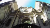 NAPLES, ITALY - CIRCA DECEMBER 2013: Church in Spaccanapoli Road Stock Footage