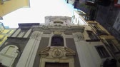 NAPLES, ITALY - CIRCA DECEMBER 2013: Nilus Place in Spaccanapoli Road Stock Footage