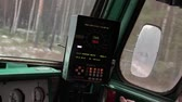 heavy : video captured from the cab of locomotive during the movement of trains