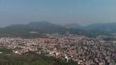 marmaris : Marmaris  Turkey. Flying a quadcopter high above the city Stock Footage