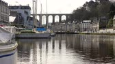 brittany : Viaduct and yachts at Morlaix