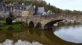brittany : view of the port of Dinan, River Rance, Brittany, France