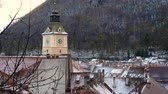 romanya : view of romanian medieval town Brasov from the viewpoint