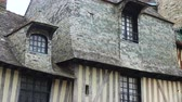 front view of french colombage houses Stok Video