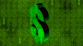 green dollar sign pattern