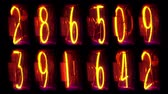 led panel : more numbers counting Stock Footage
