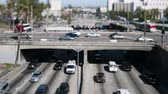 Голливуд : los angeles tilt shift overpass Стоковые видеозаписи